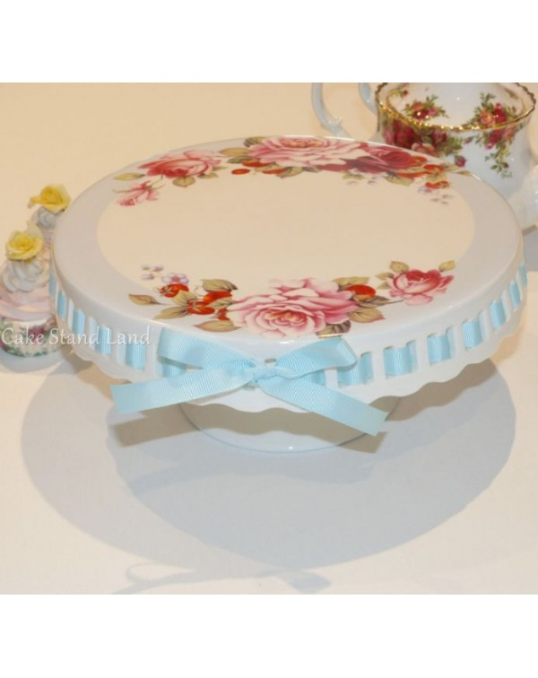 (OUT OF STOCK) RIBBON CAKE STAND BLUE